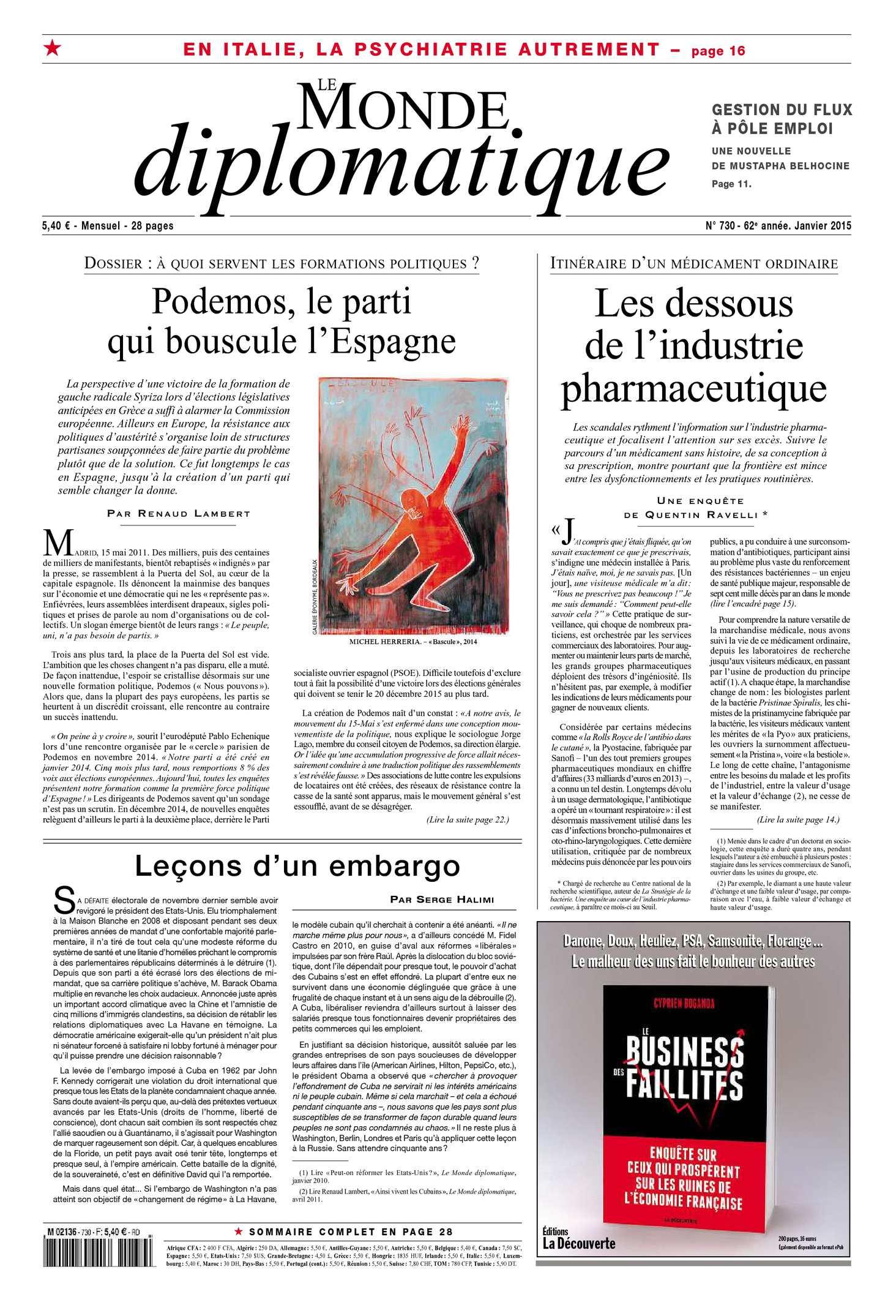 Le Monde Diplomatique Janvier 2015