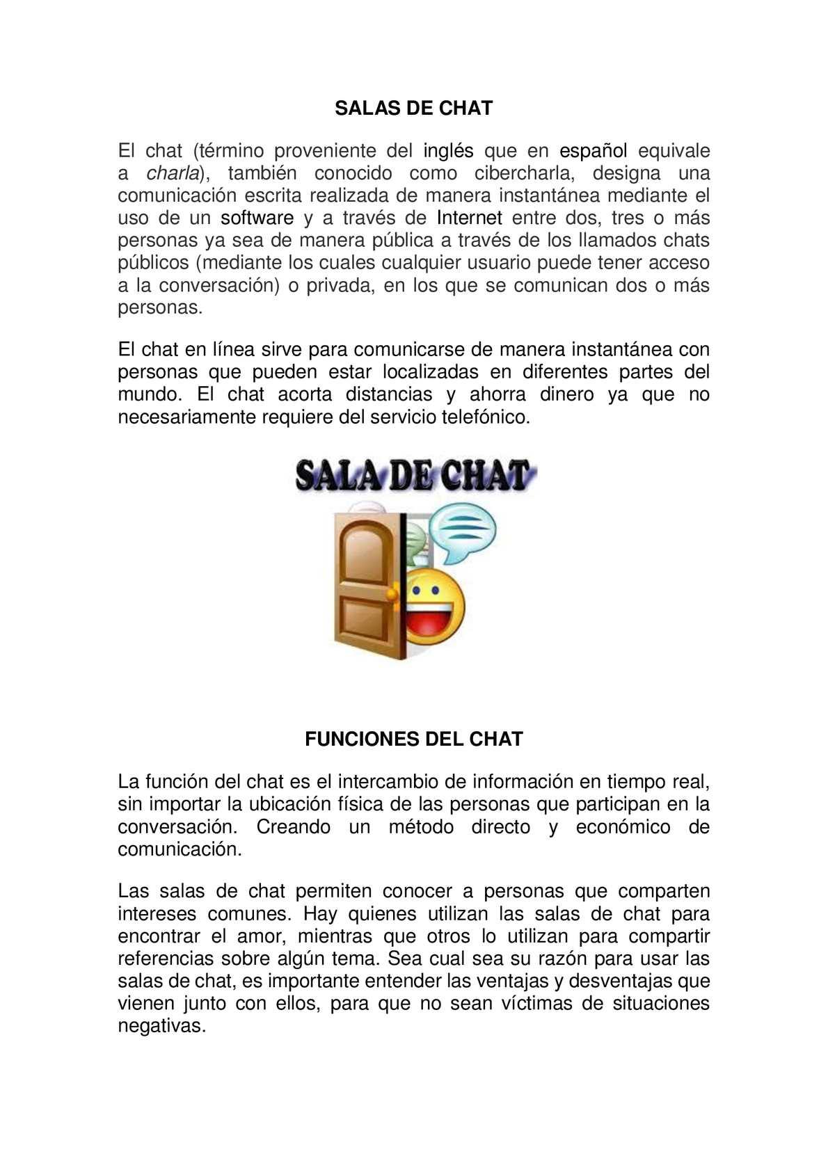 el chat gratis en español