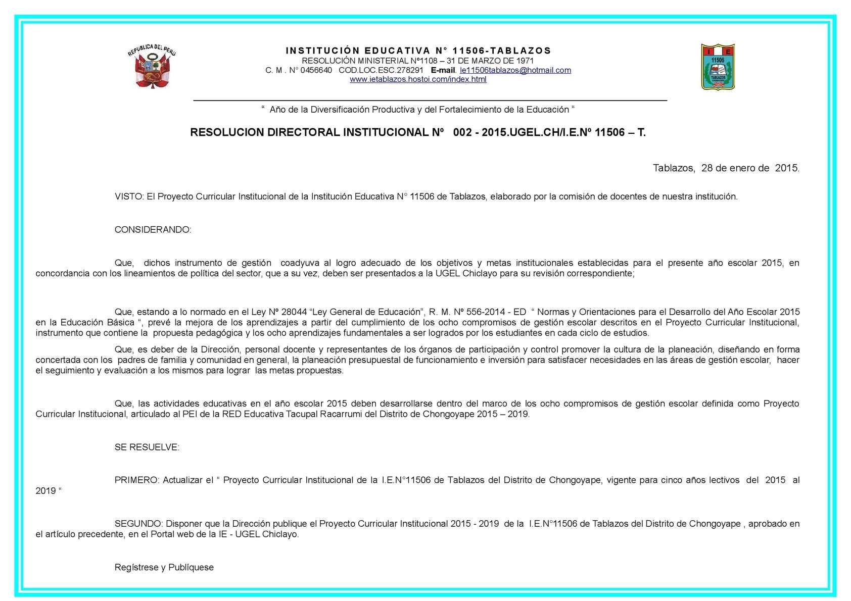 Calaméo - Proyecto Curricular Institucional 2015 2019 01 De Febrero ...