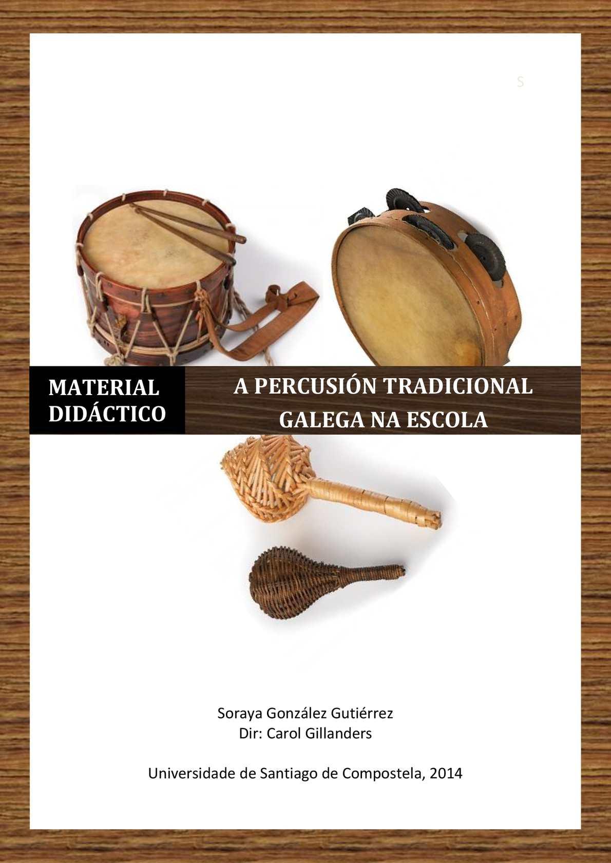 Calam o a percusi n tradicional galega na escola dise o - Carpinteros en santiago de compostela ...