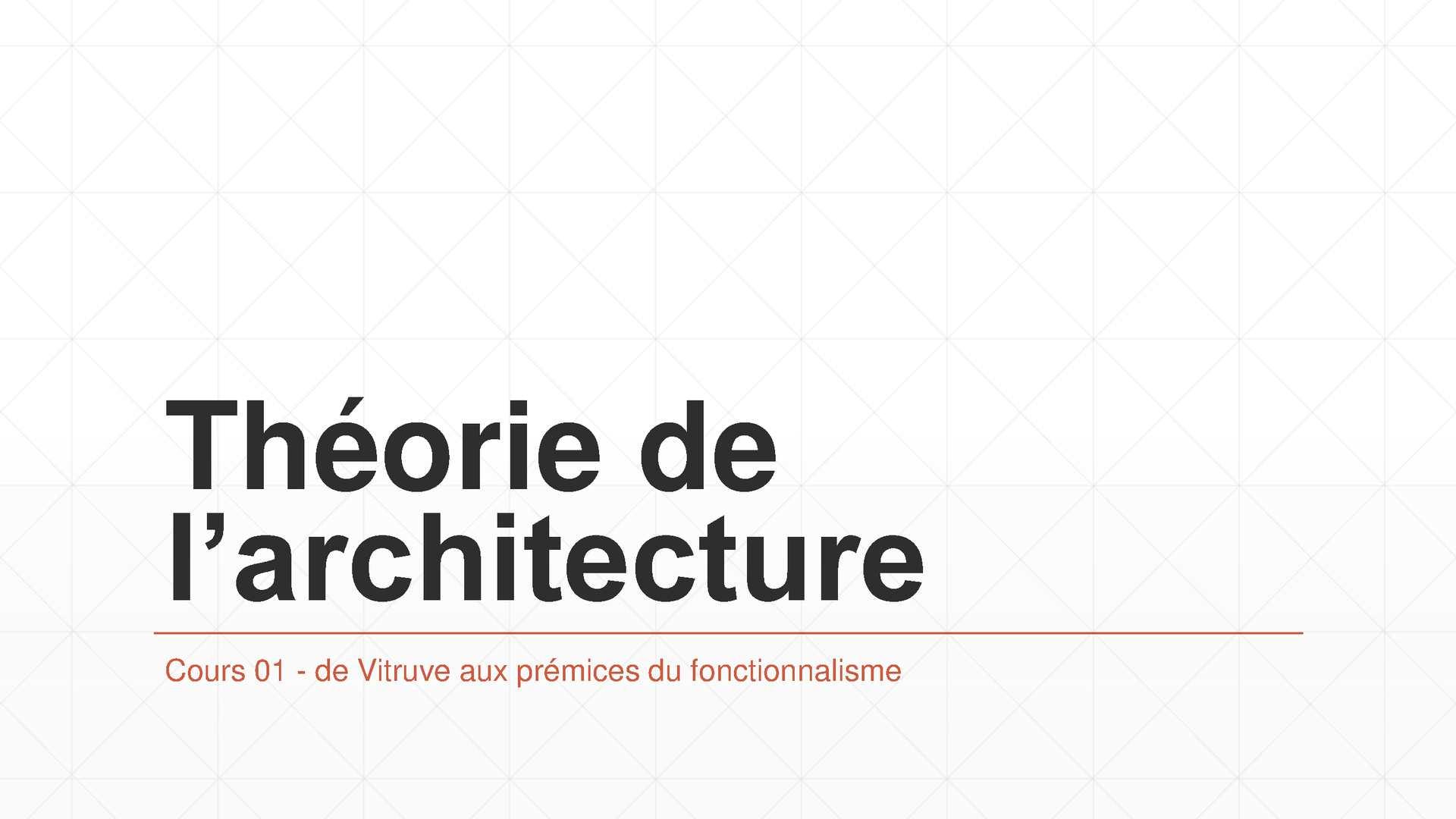 Cours 2 Théorie De L'architecture Master 2 Tlemcen