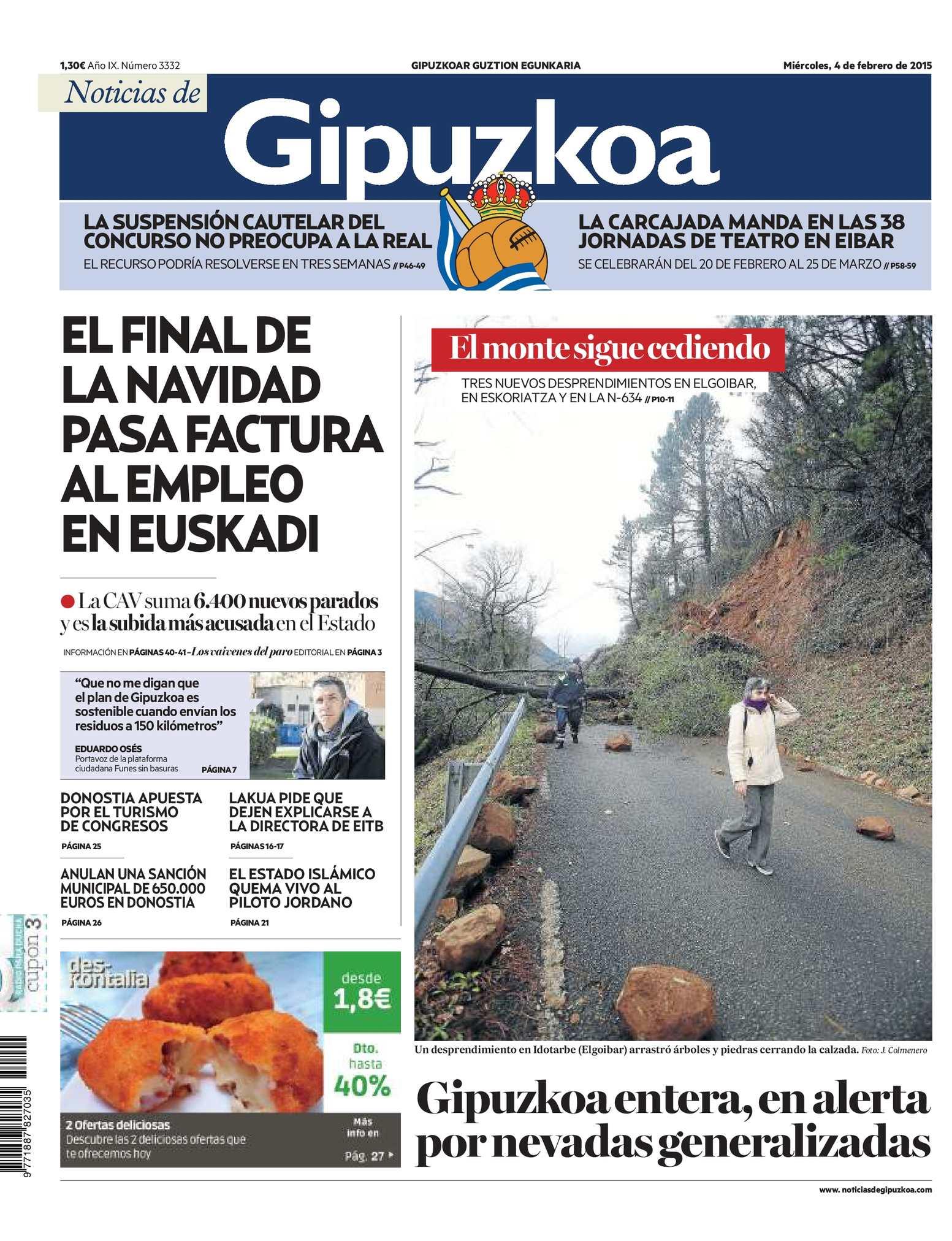 Noticias de Gipuzkoa 20150204