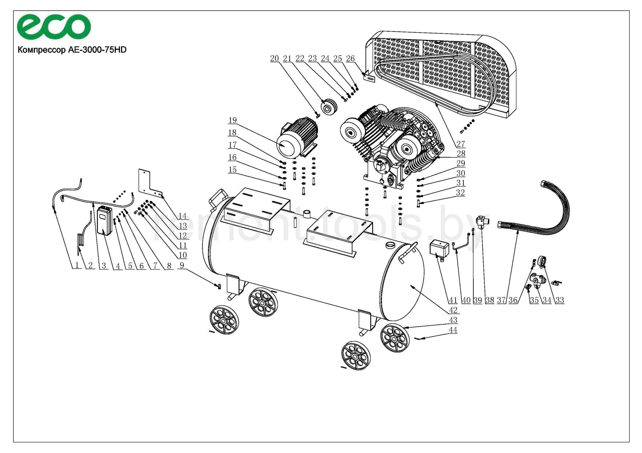 Eco Компрессор Ae 3000 75hd