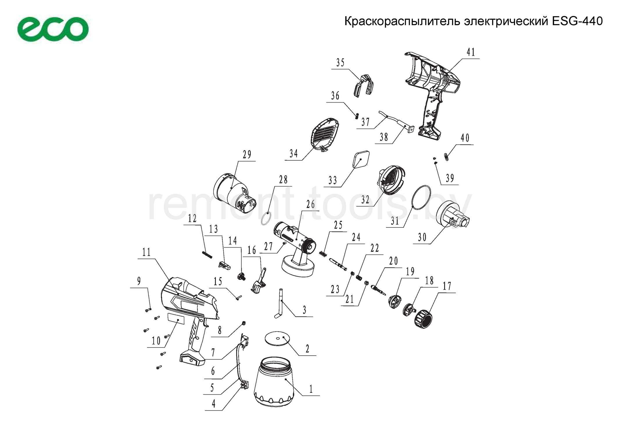 Eco Краскораспылитель электрический Esg 440