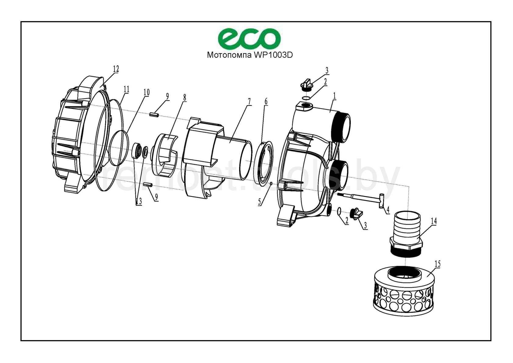 Eco Мотопомпа Wp1003d