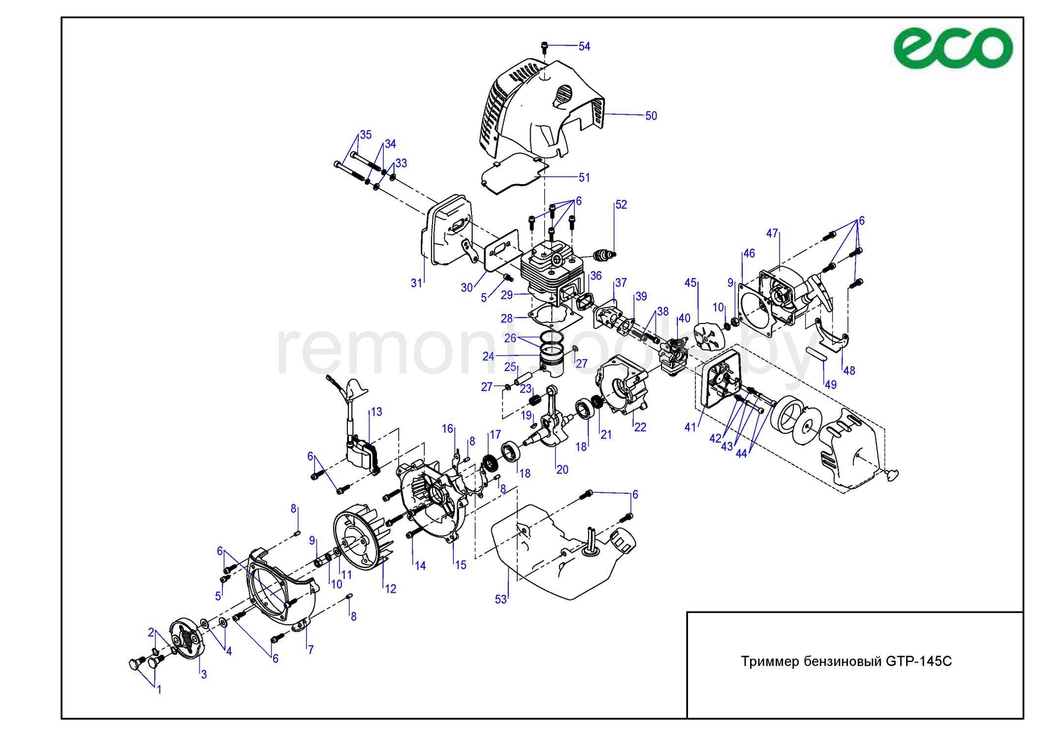 Eco Триммер бензиновый Gtp 145c