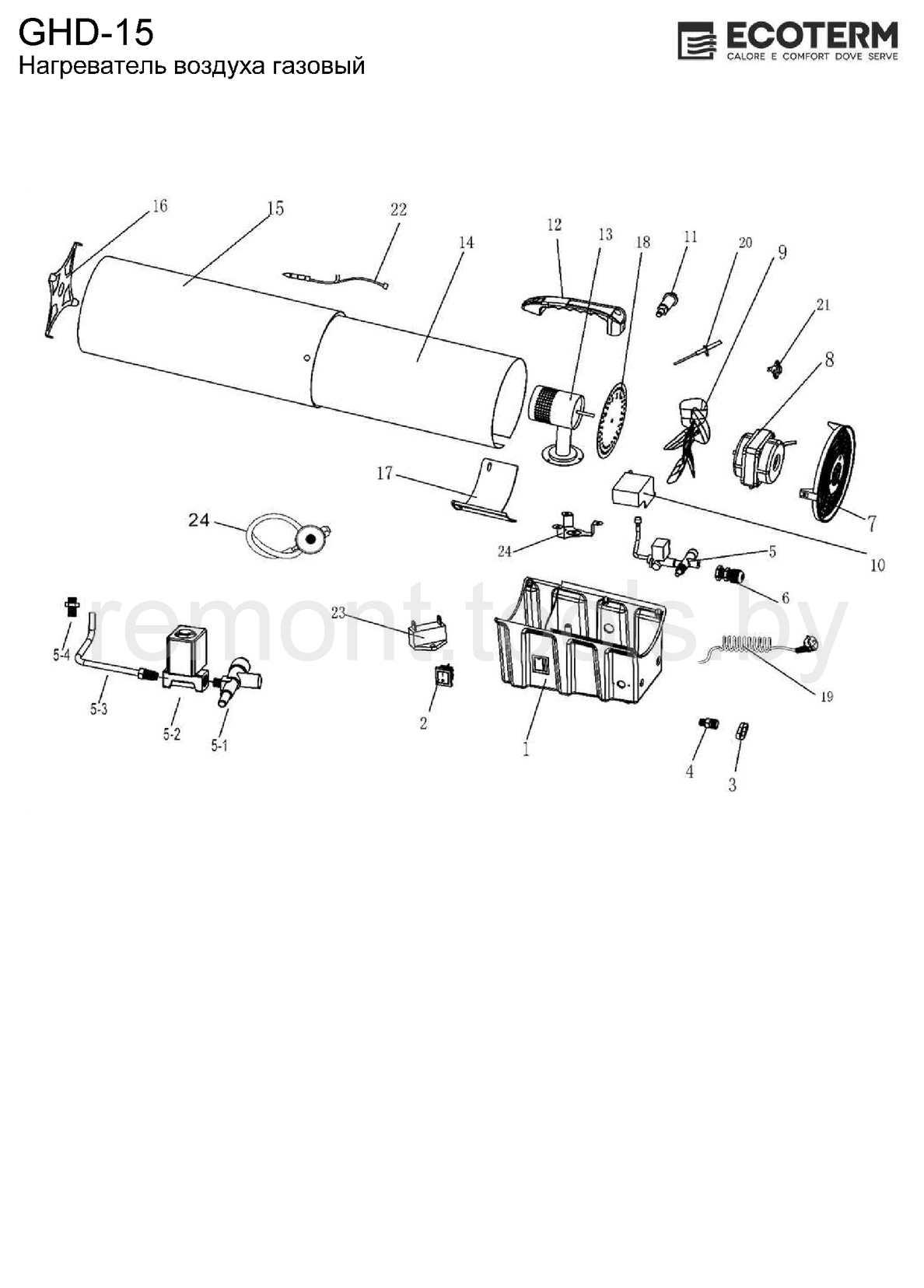 Ecoterm Нагреватель газовый GHD-15