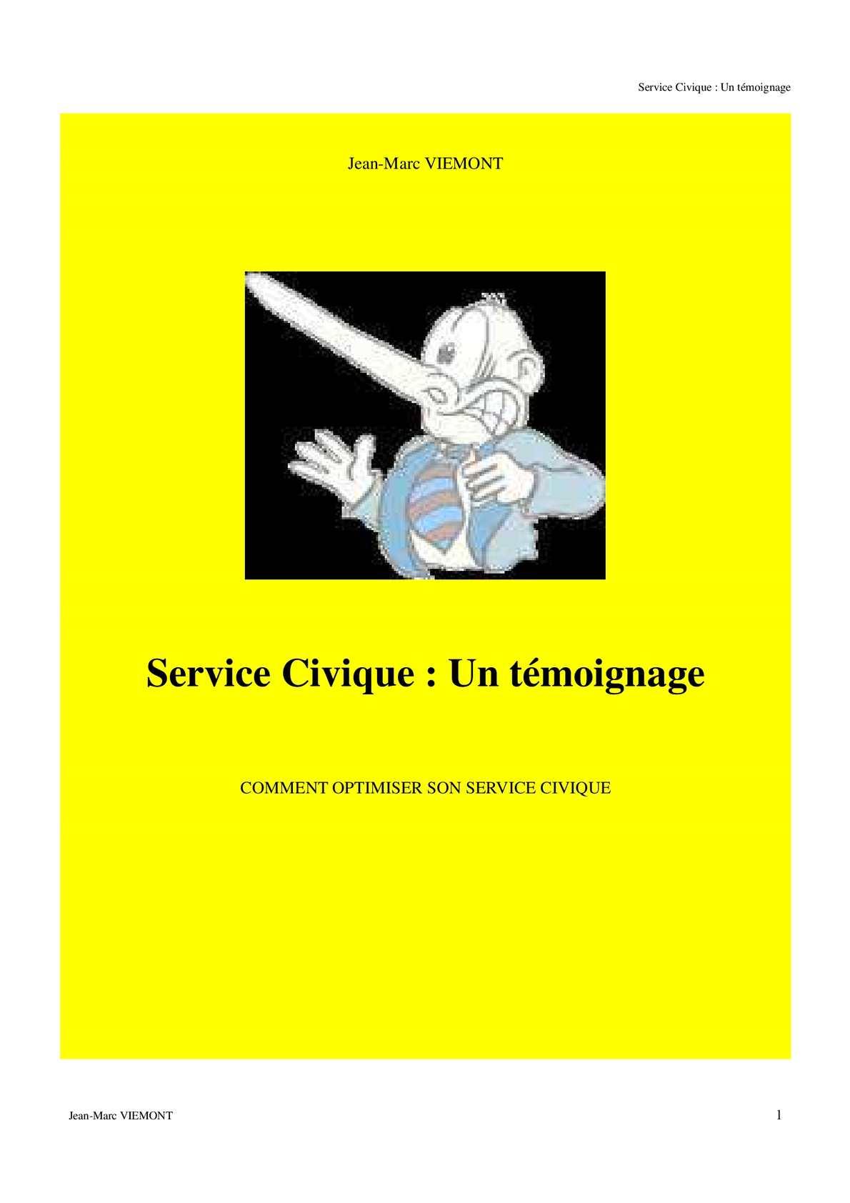 Calameo Service Civique Un Temoignage