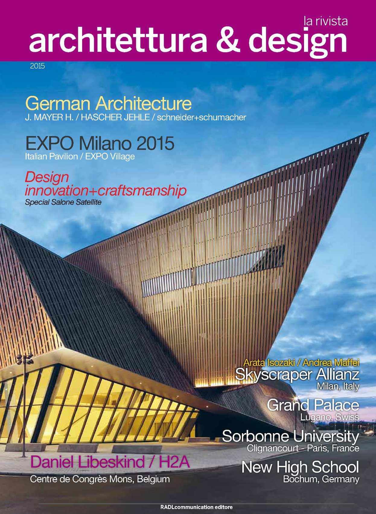 Calam o rivista architettura design for Architettura e design milano