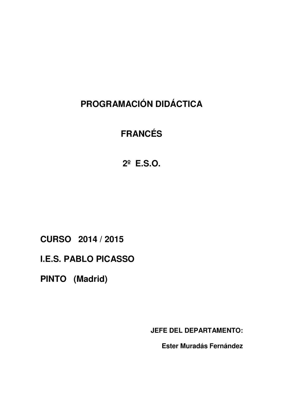 Calaméo - PROGRAMACIÓN FRANCÉS 2º ESO