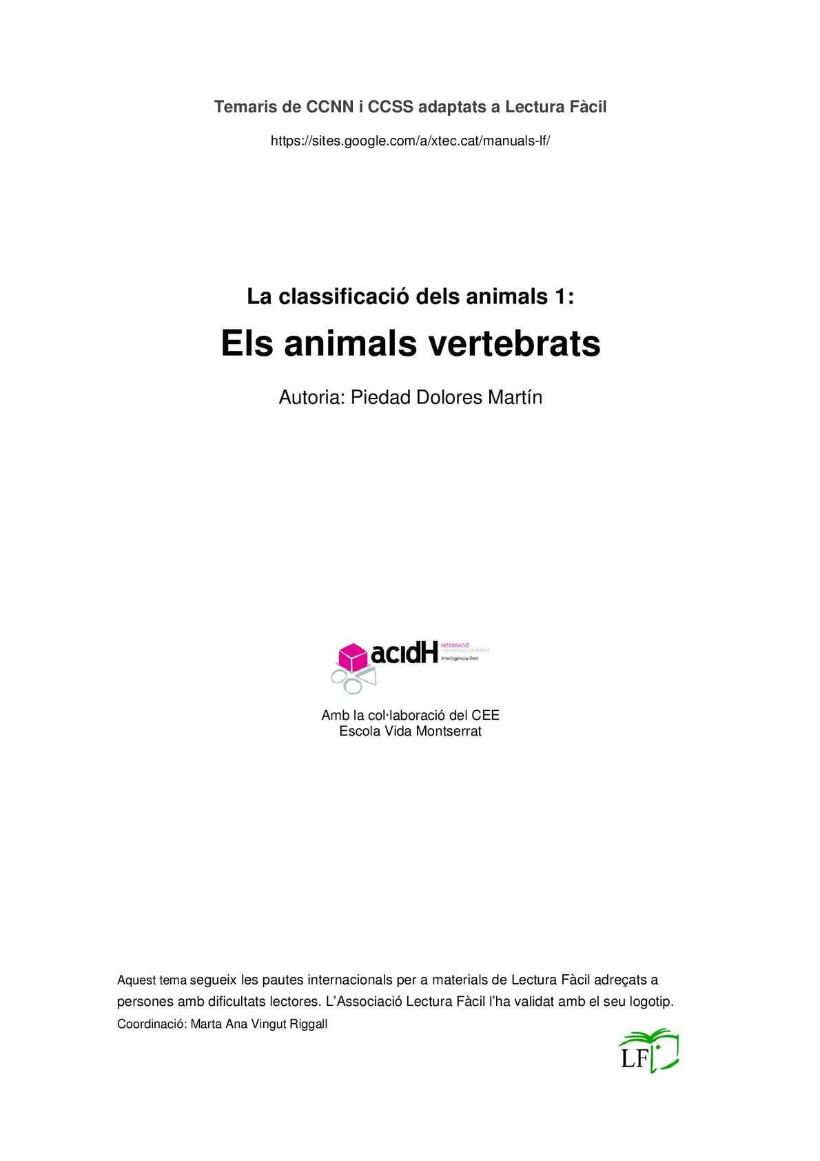 Animals Vertebrats