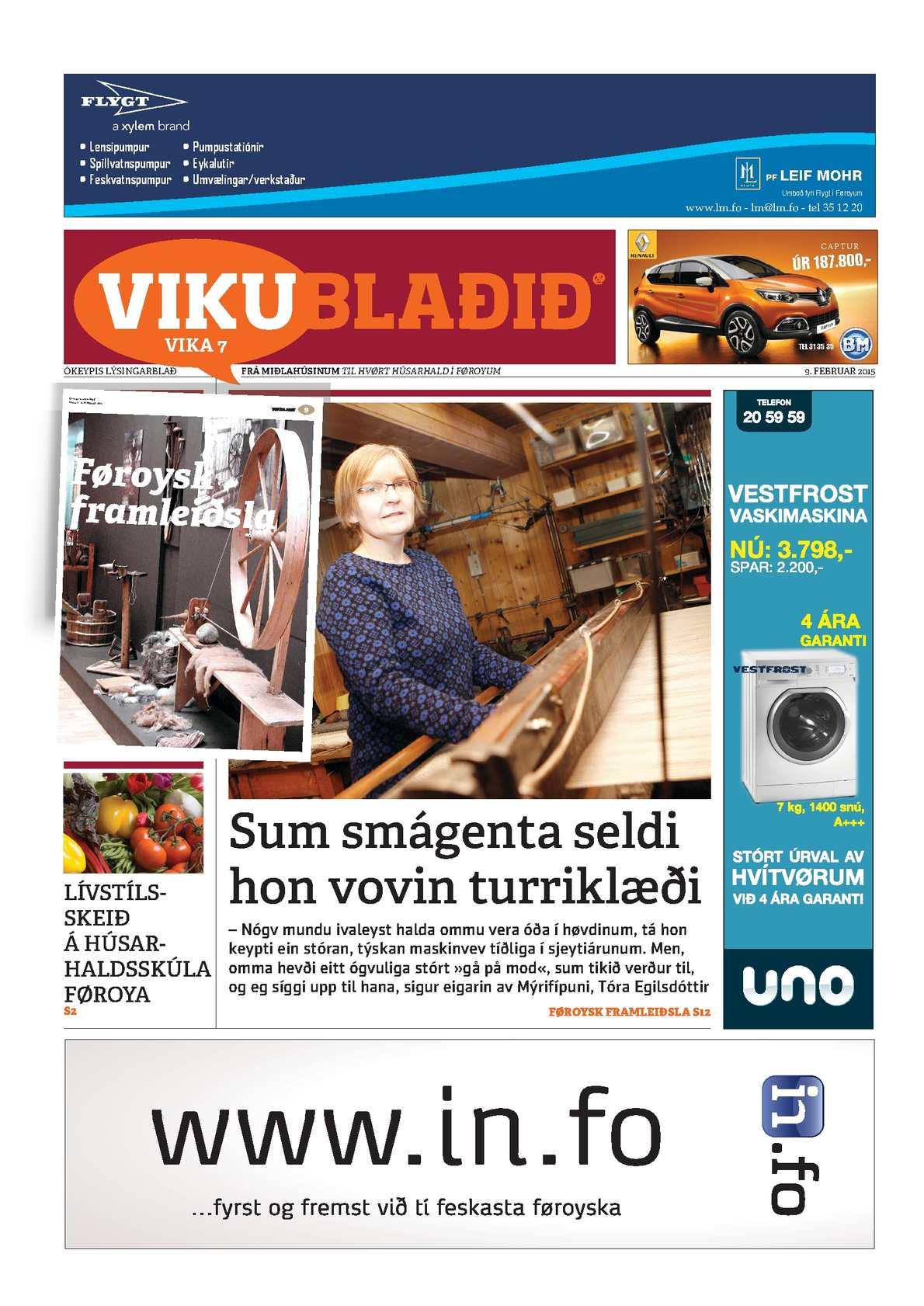 Vikublaðið 9. feb. 2015