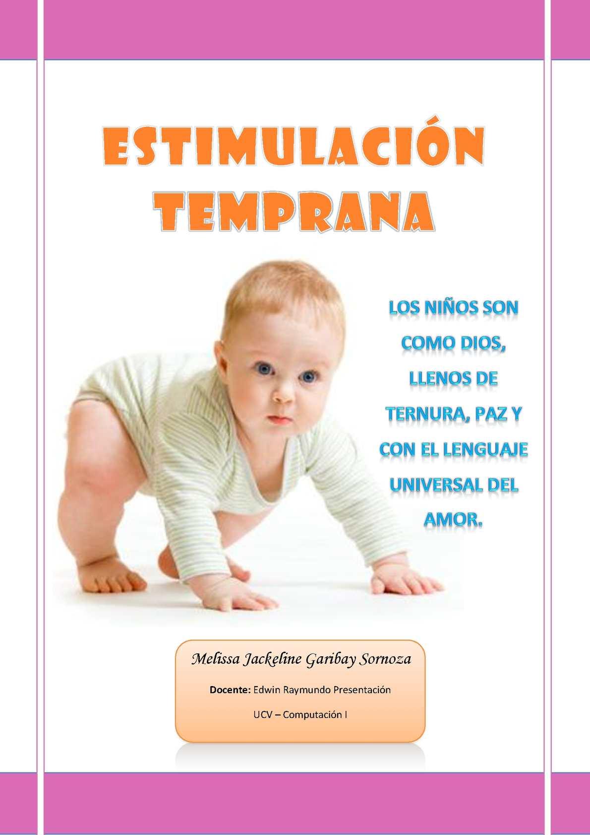 Calam o revista de estimulaci n temprana - Estimulacion bebe 3 meses ...