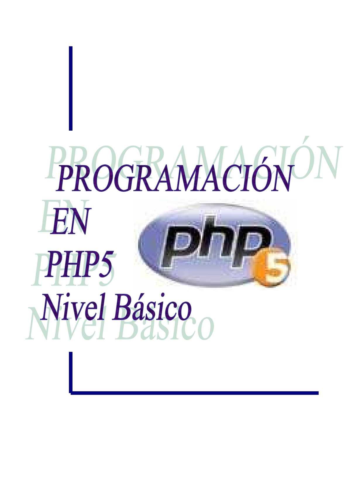 Php, Programacion En Php y MySql