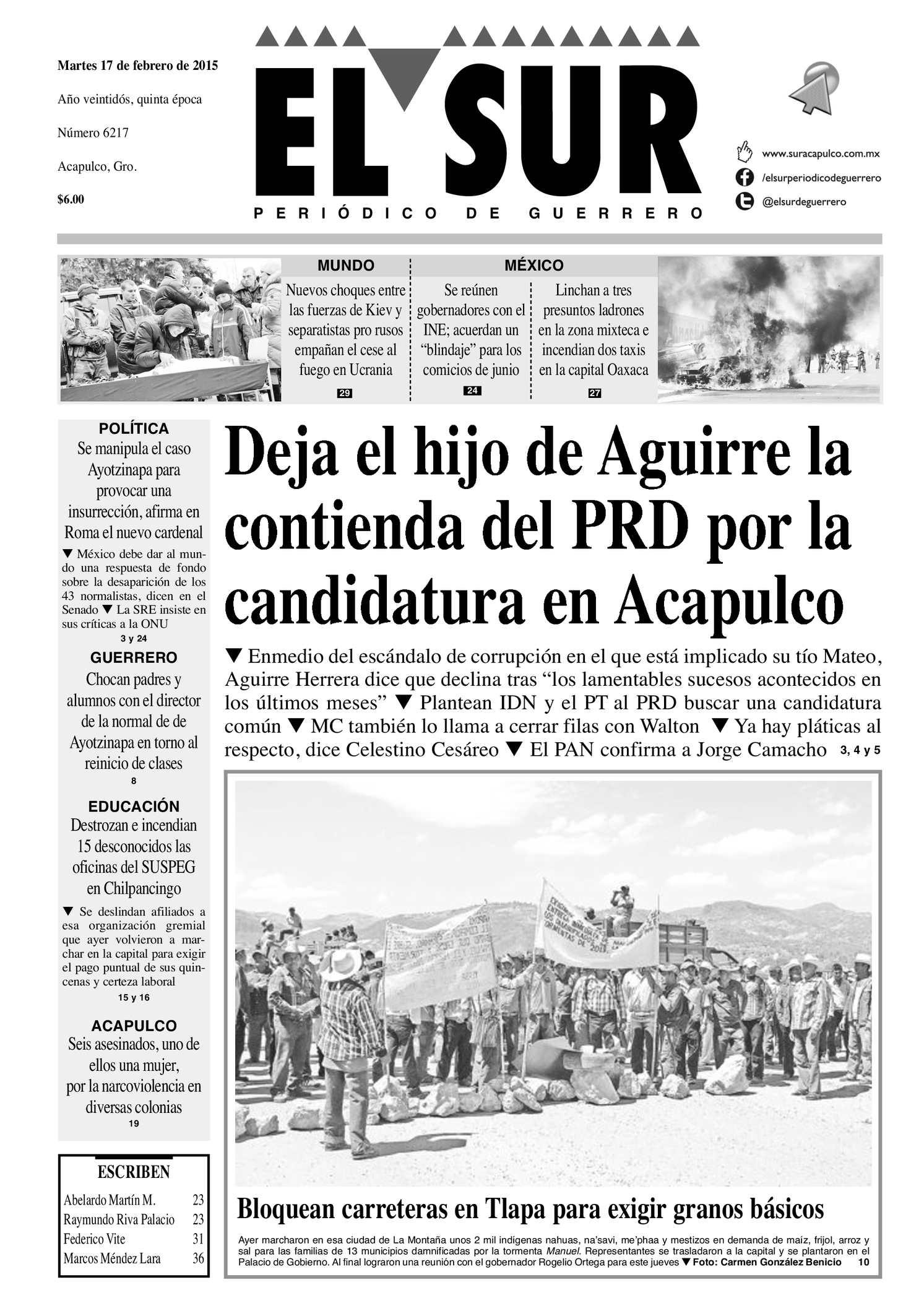 Calaméo - El Sur Martes 17022015