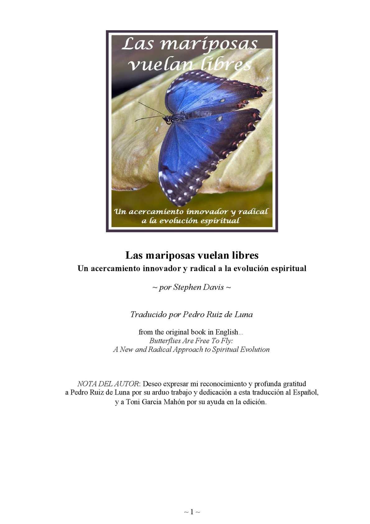 Calaméo - Las Mariposas Vuelan Libres. Stephen Davis