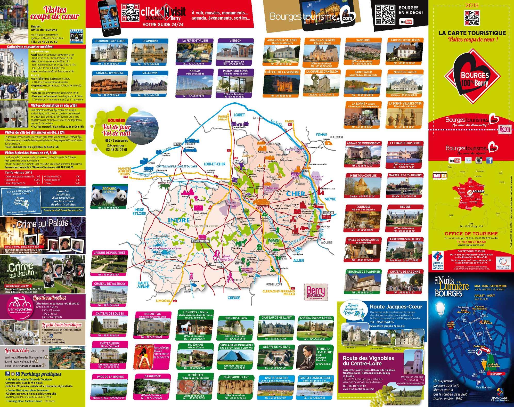 Calam o carte touristique bourges 2015 - Office du tourisme de berlin ...