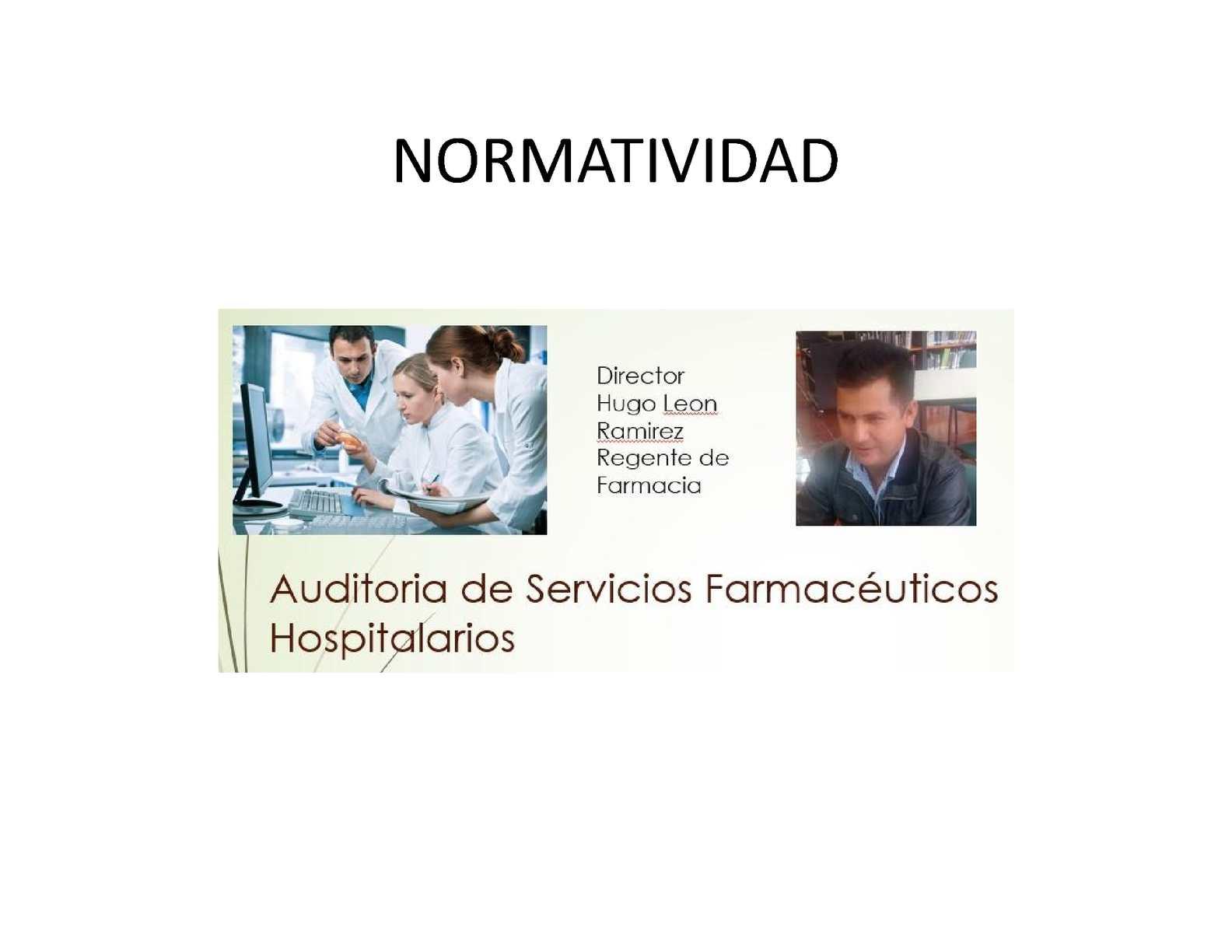 Marco Normativo Auditoria