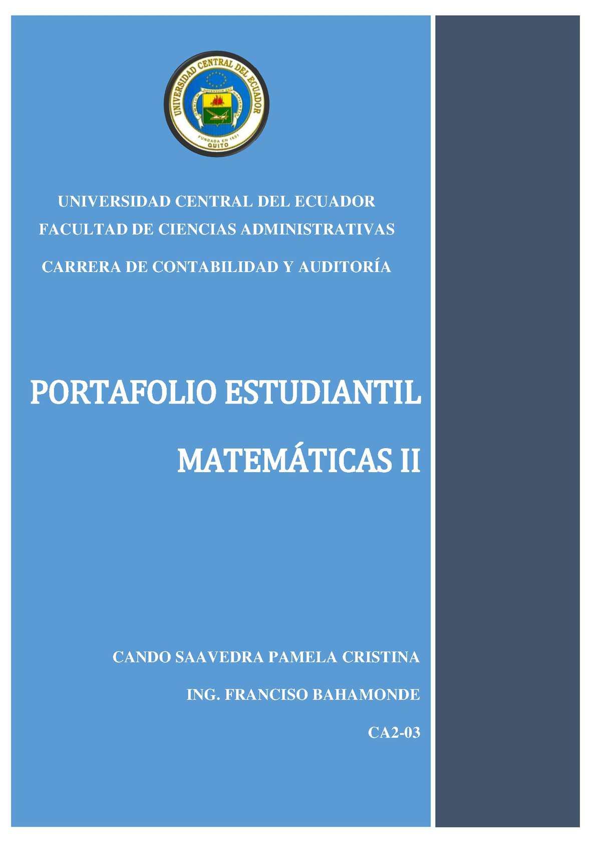 Portafolio Del Estudiante (Matemáticas) Ca2 03