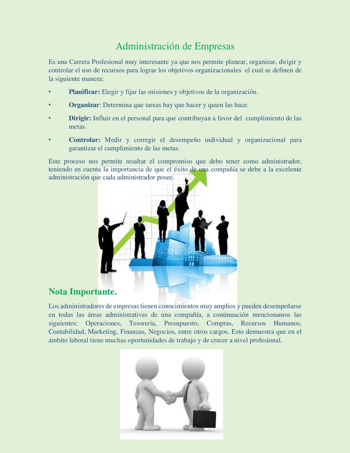 Publicidad Administración De Empresas