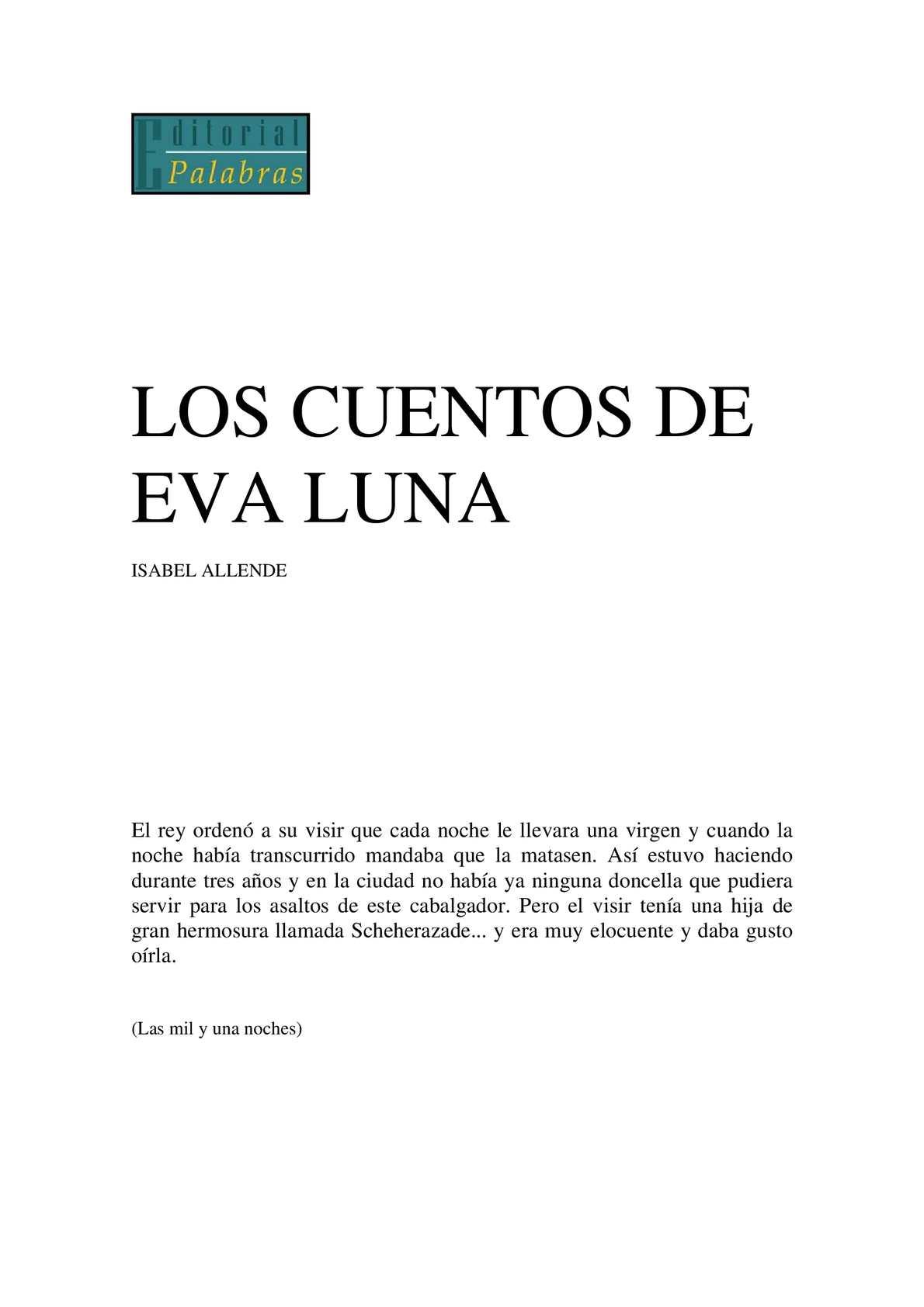 Calaméo - Isabel Allende Los Cuentos De Eva Luna