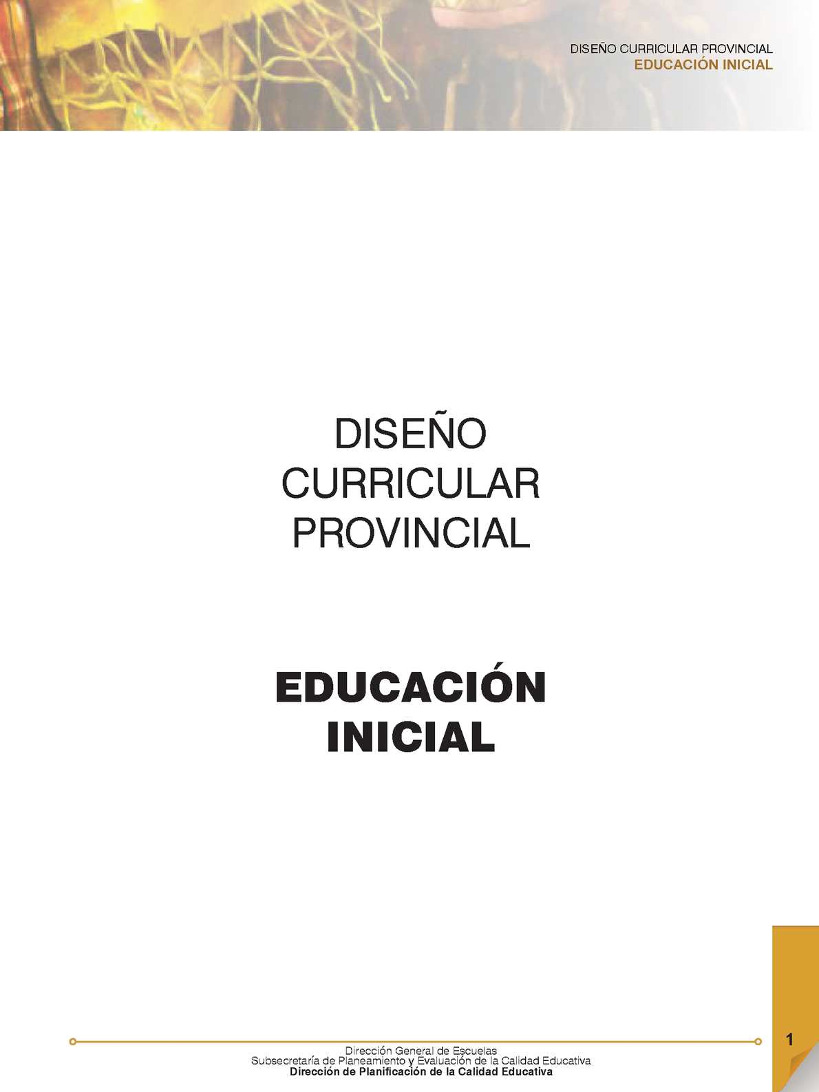 calam o dise o curricular nivel inicial 2015 On diseno curricular maternal