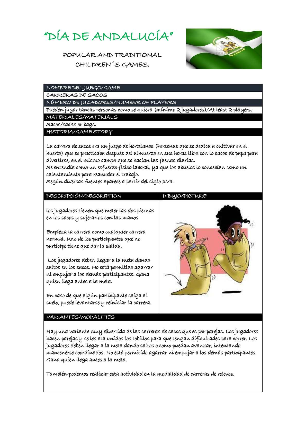 Calaméo - Fichas De Juegos Día De Andalucía