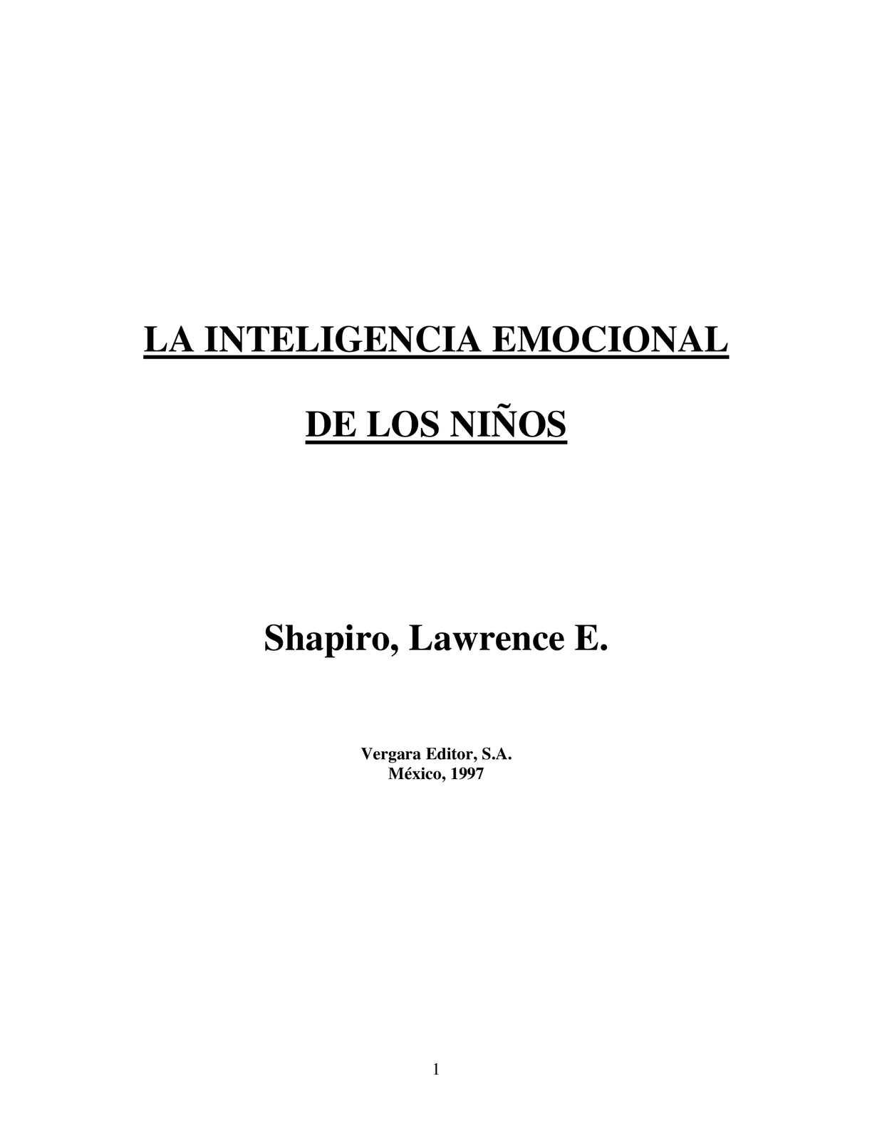 Calaméo - Inteligencia Emocional En Niã\'os (2) (1)