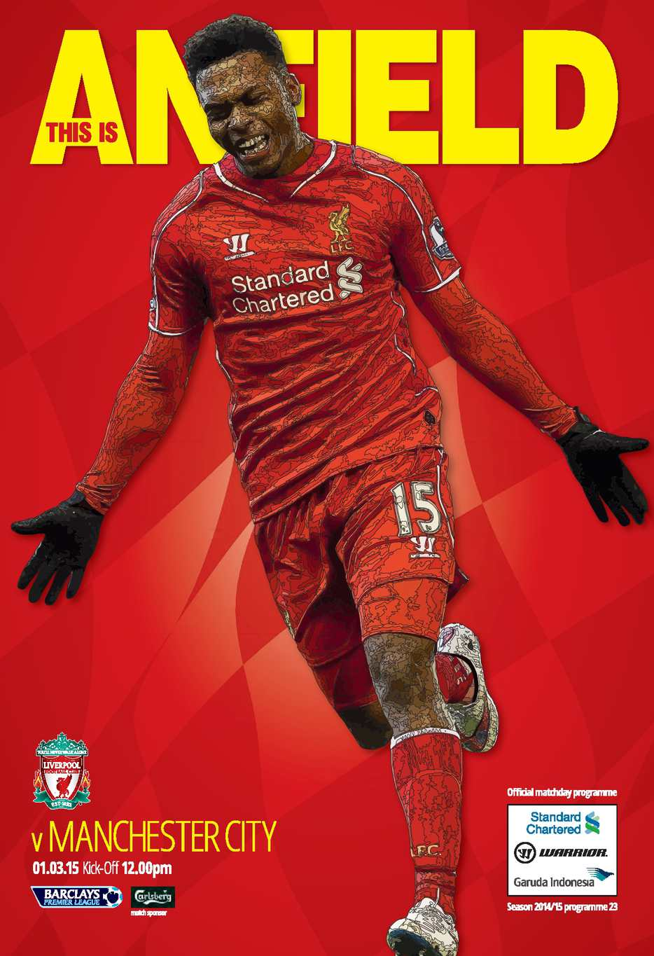 LIVERPOOL V MANCHESTER CITY (3RD MARCH 2015)