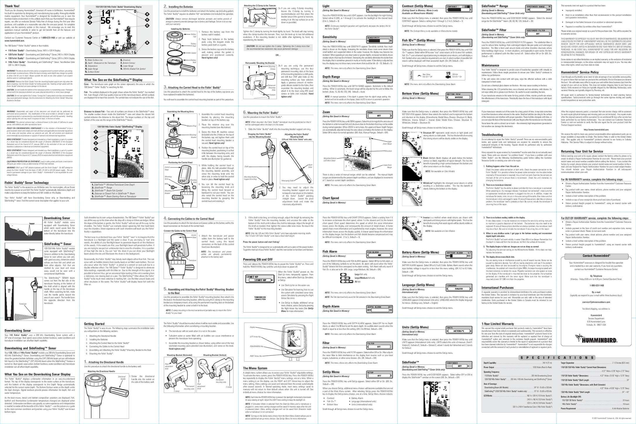 эхолот ff998 инструкция pdf