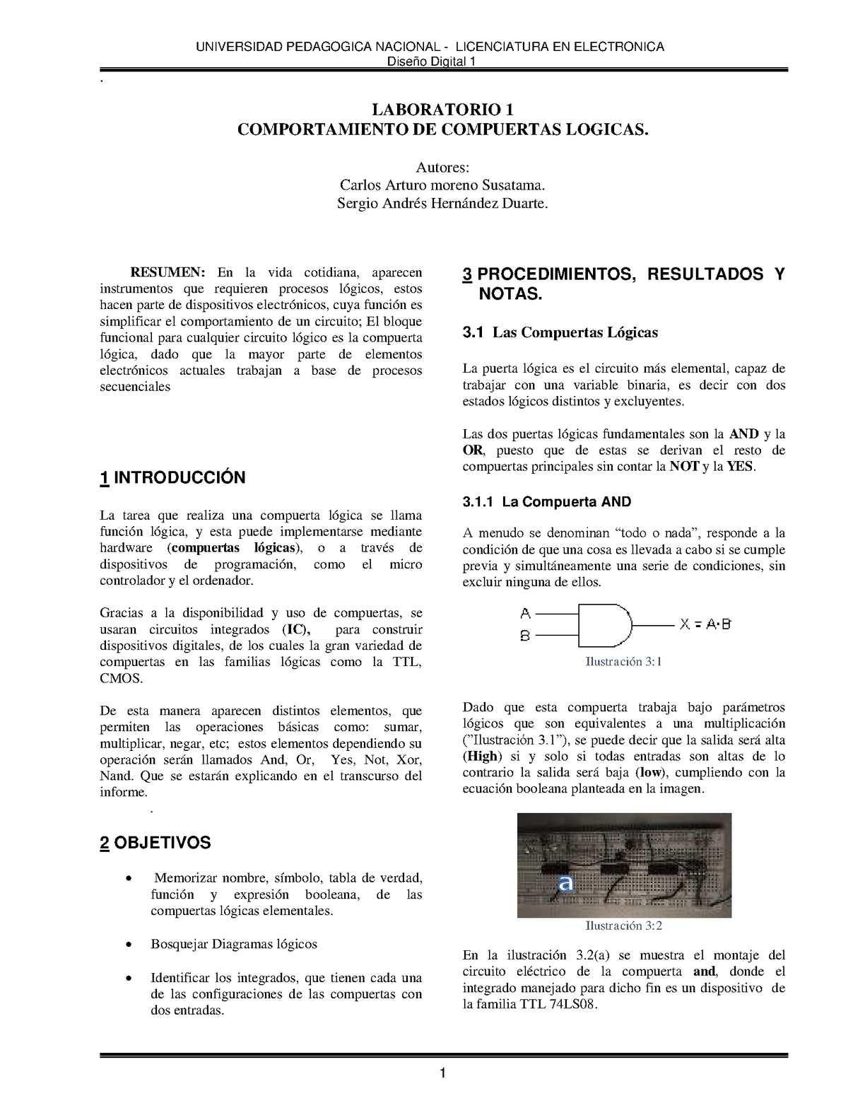 Circuito Xor : Calaméo informe 1 digitales