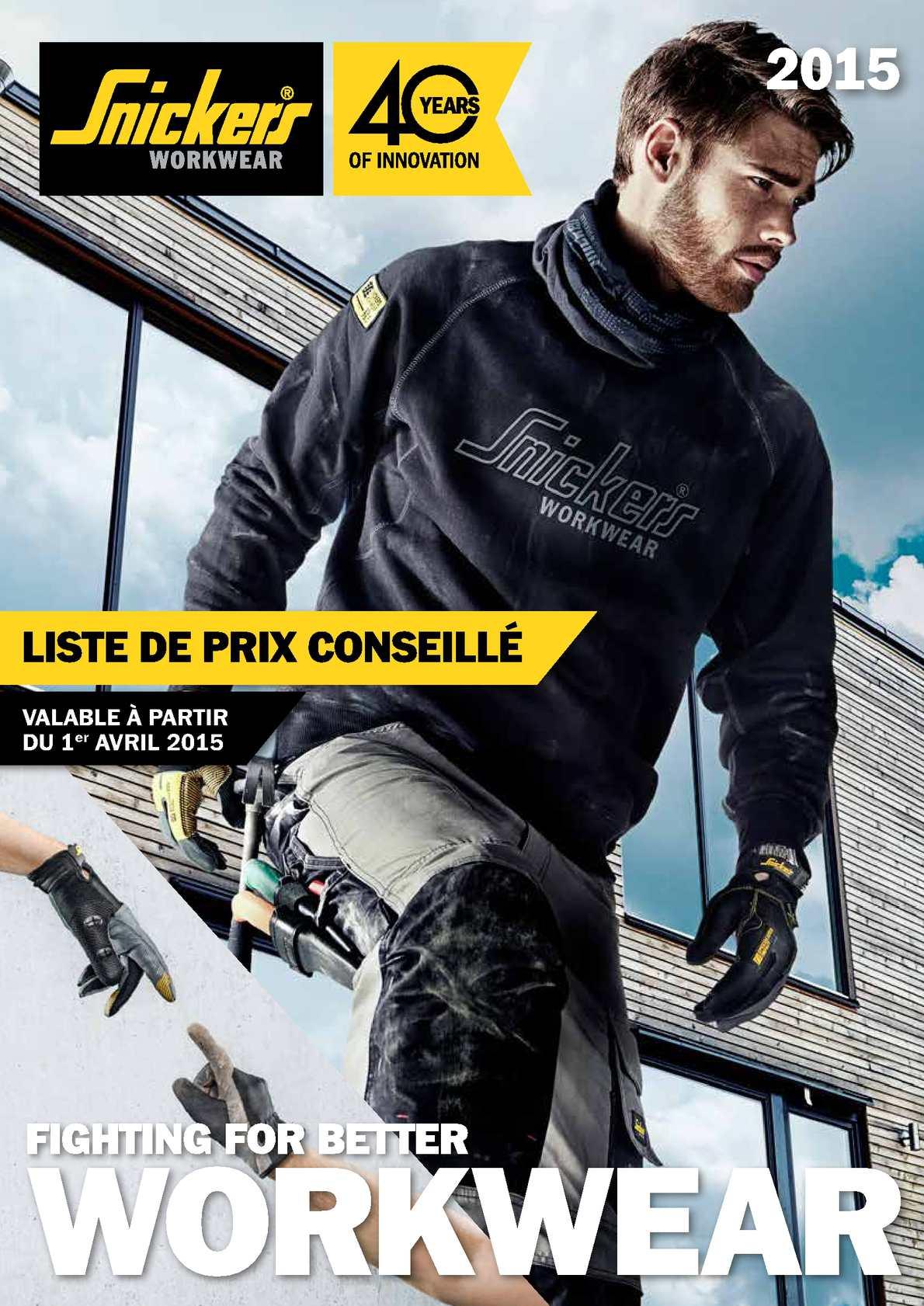 05d8cf671e08a Calaméo - Snickers Workwear Liste De Prix Avril 2015 (Prix Adhérents)