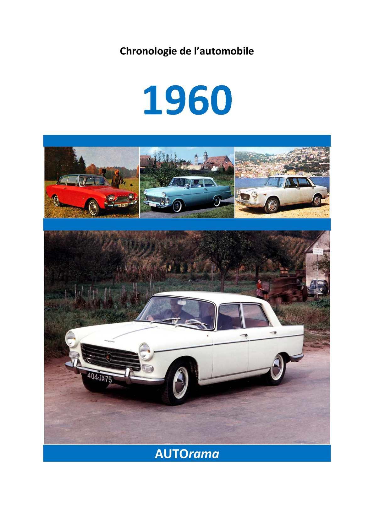 Chronologie de l'Automobile - 1960