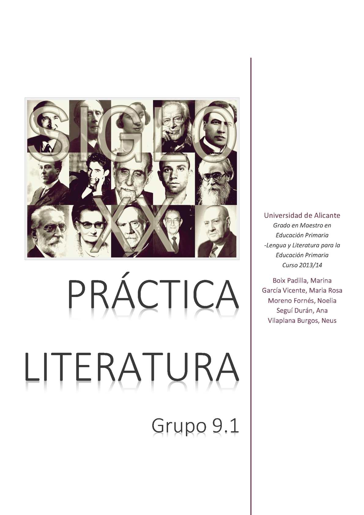 Práctica Literatura Castellano