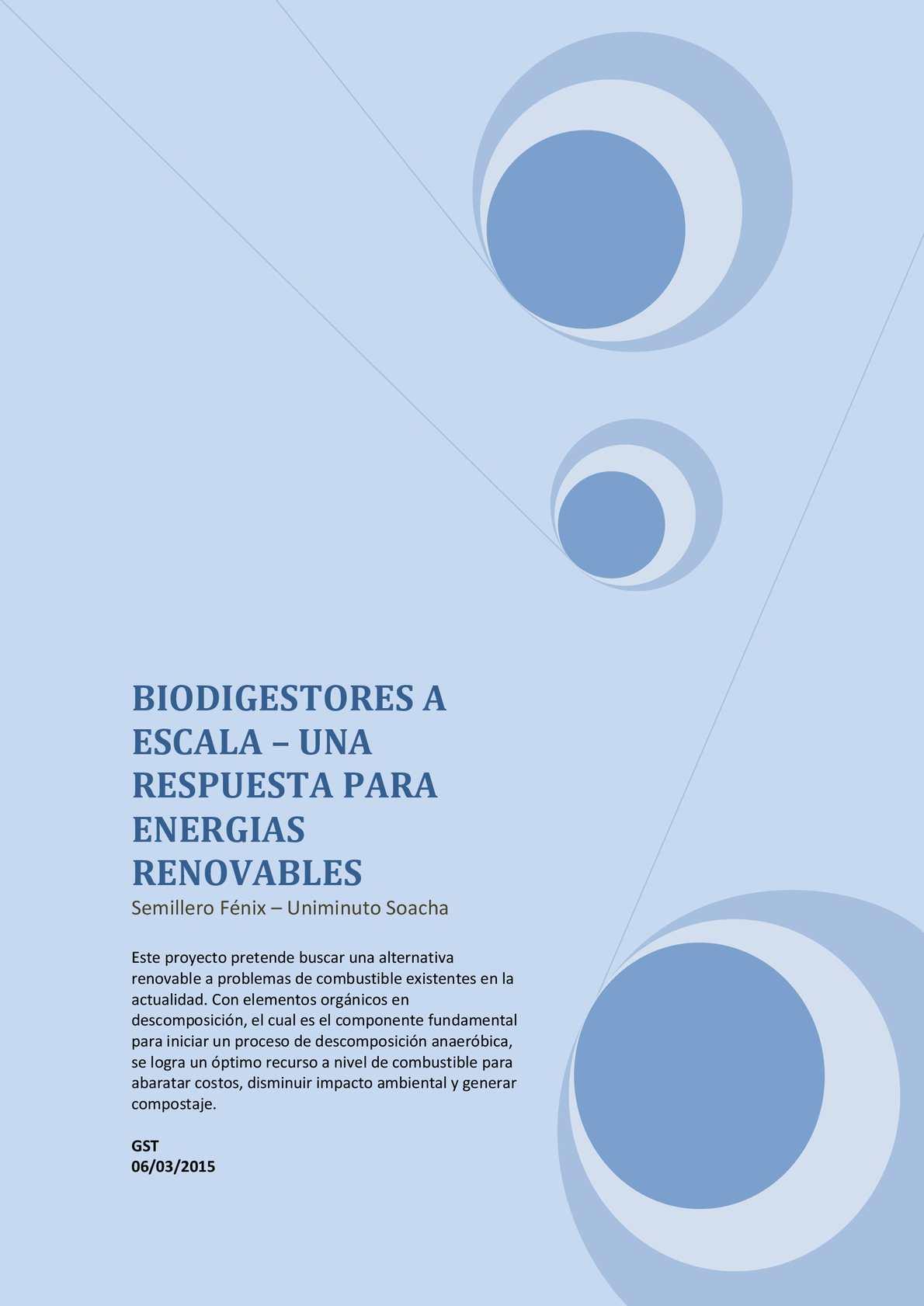 Biodigestores A Escala
