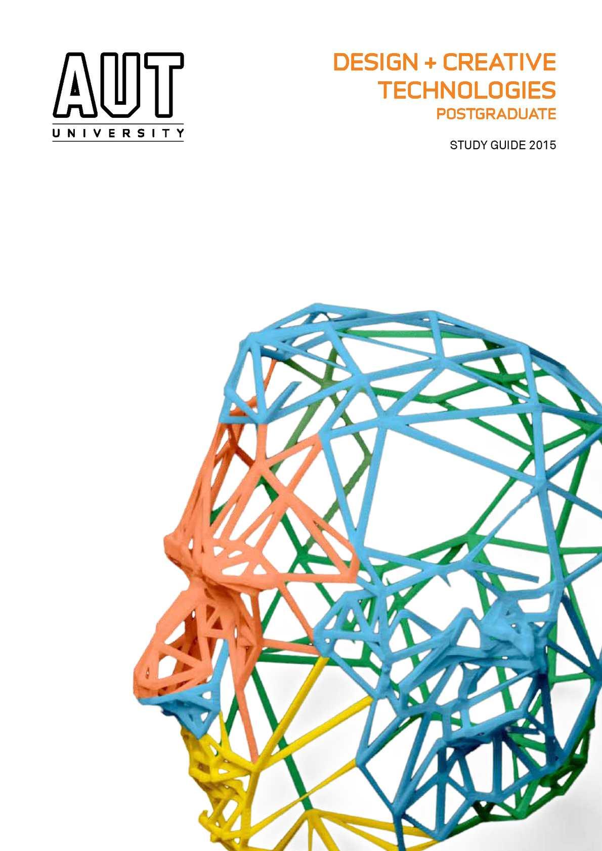 Calamo 2015 Postgraduate Design And Creative Technologies Study Guide