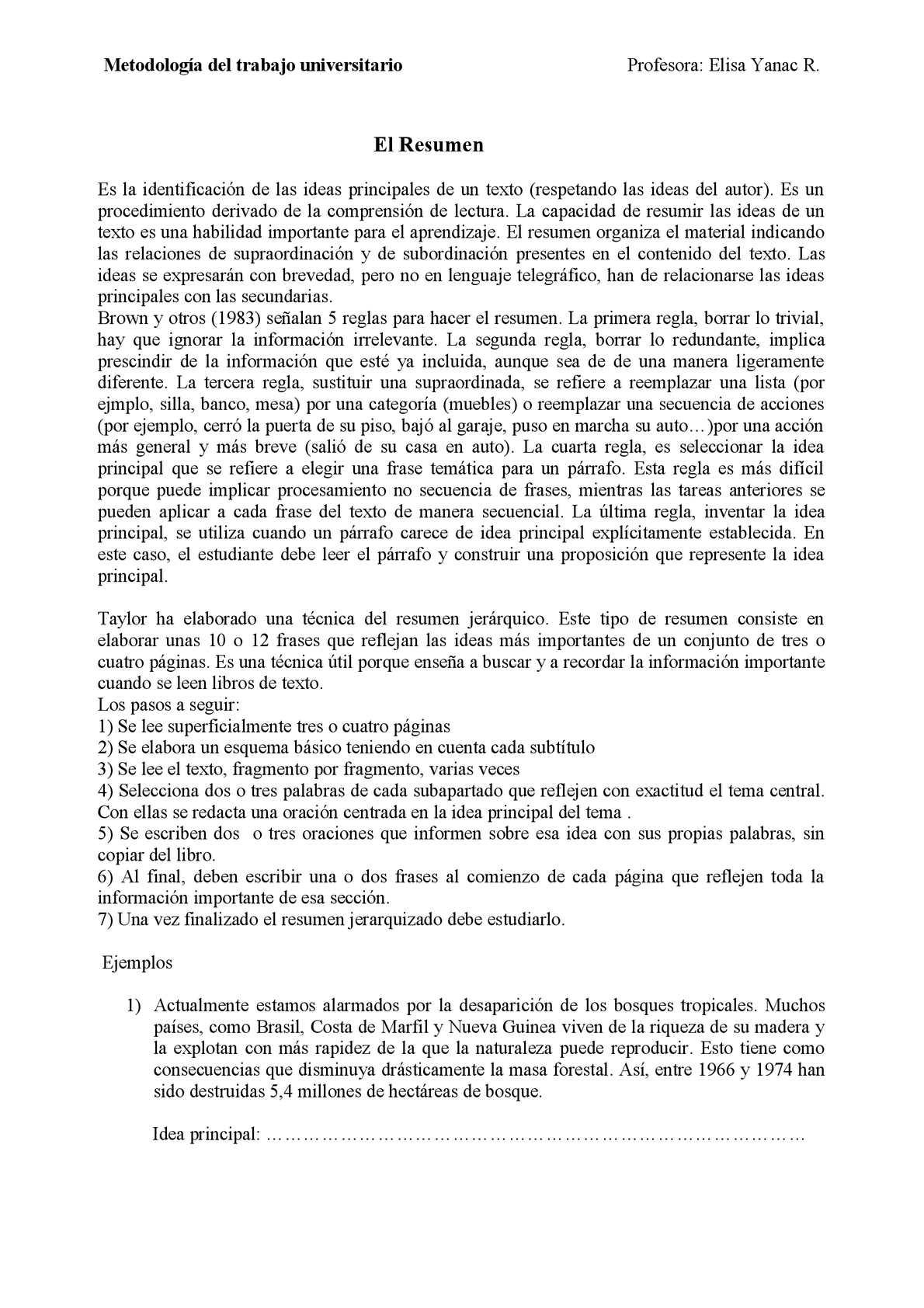 Calaméo - PRÁCTICAS DE RESUMEN Y ORTOGRAFÍA