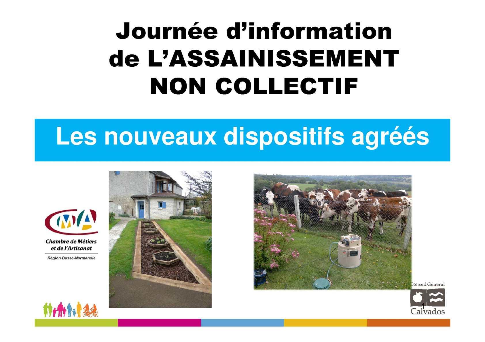 Calam o journ e d information de l assainissement non collectif les nouve - Assainissement non collectif reglementation ...