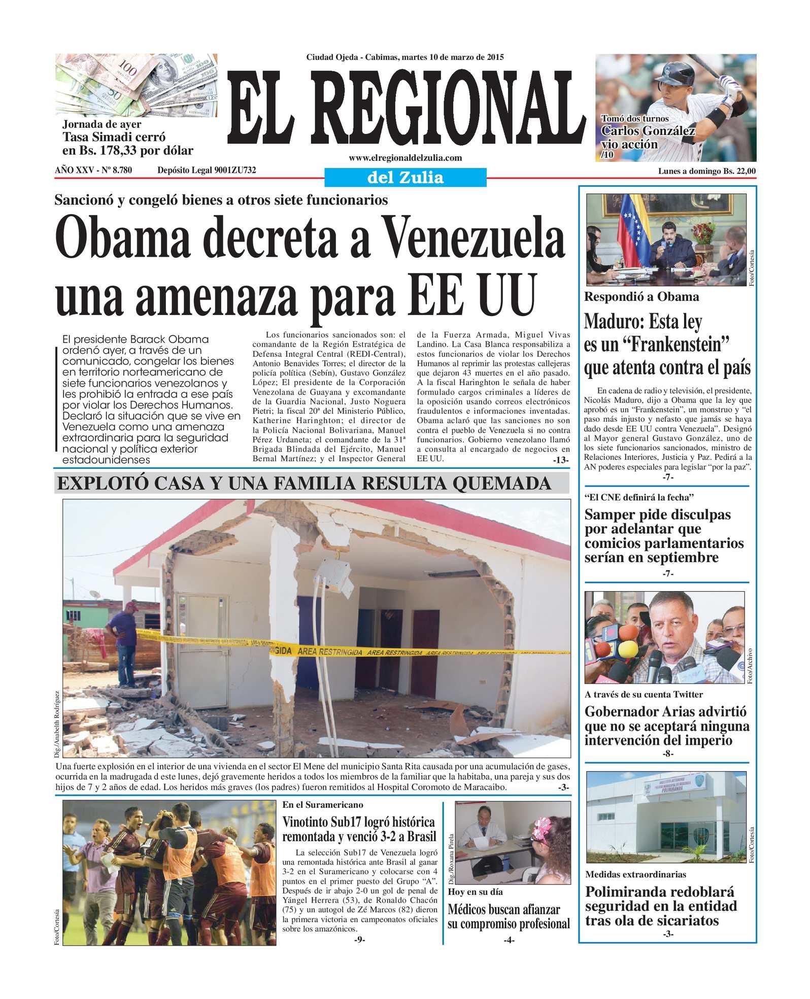 Calaméo - El Regional del Zulia 10-03-2015