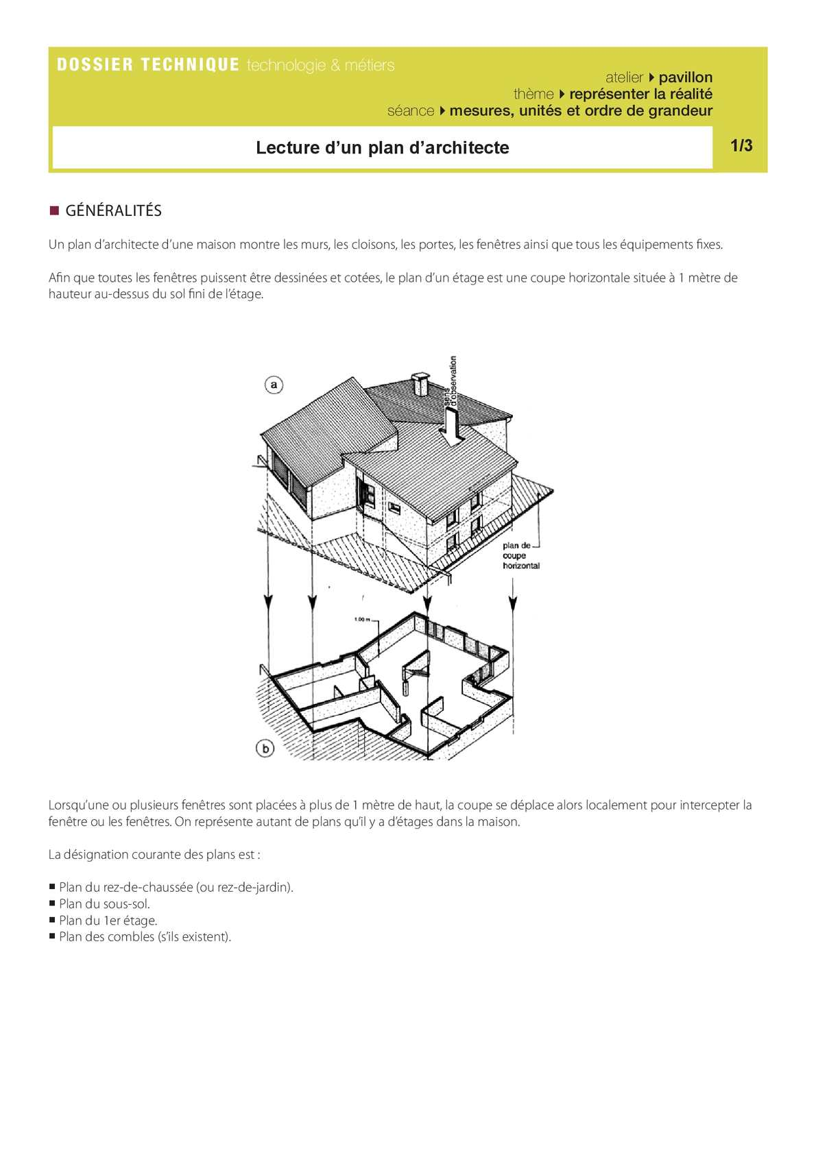 Calam o lecture plan archi for Lecture plan architecte
