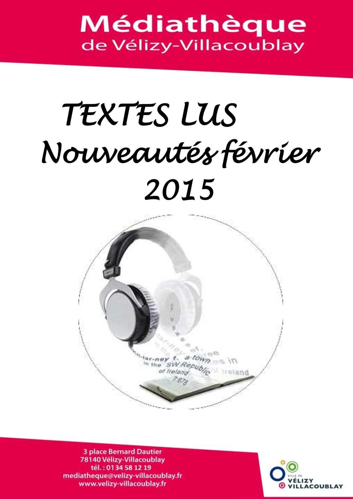 Calam 233 O Cd Textes Lus F 233 Vrier 2015