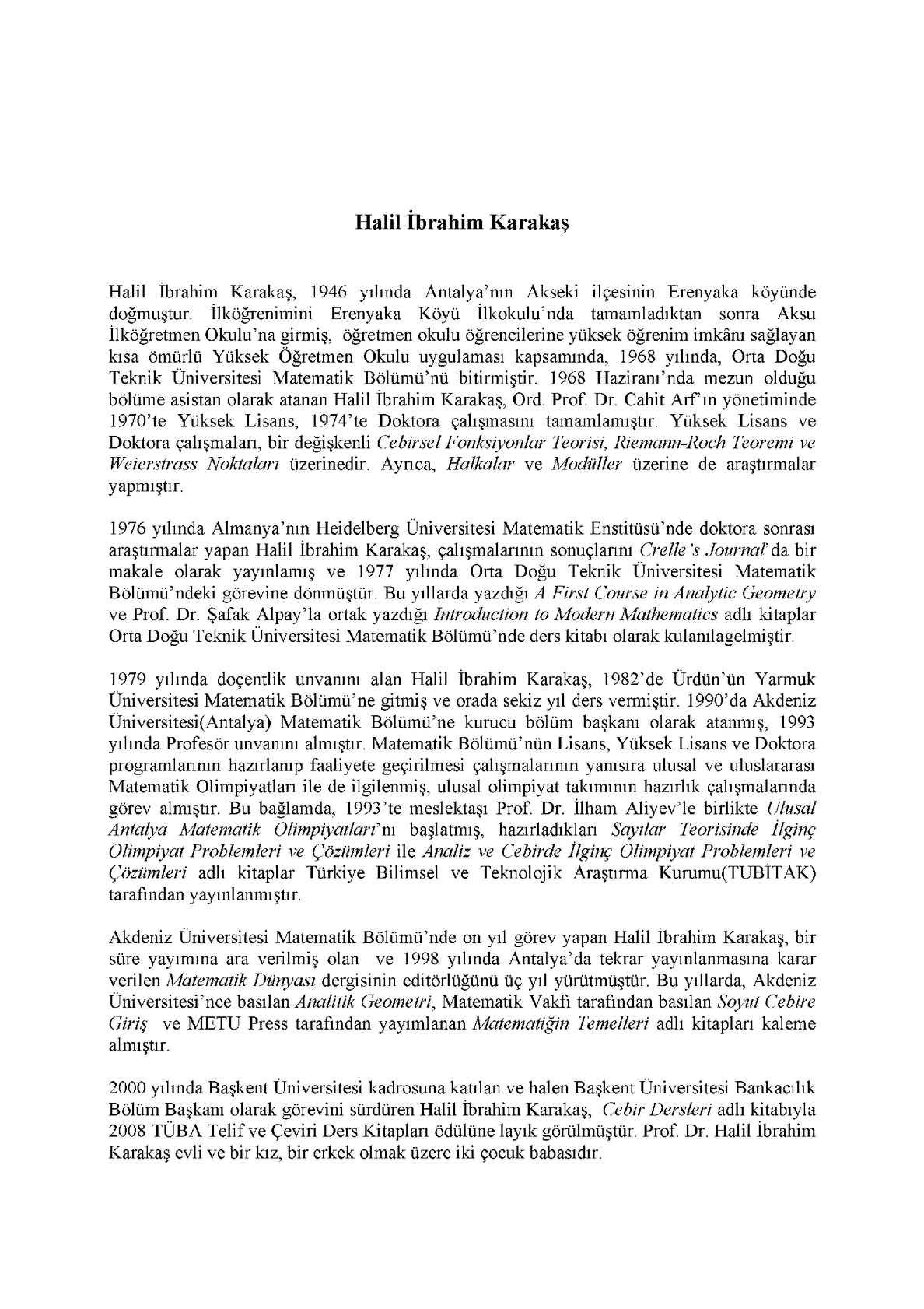 Soyut Cebir'e Giriş - Prof. Dr. Halil İbrahim Karakaş