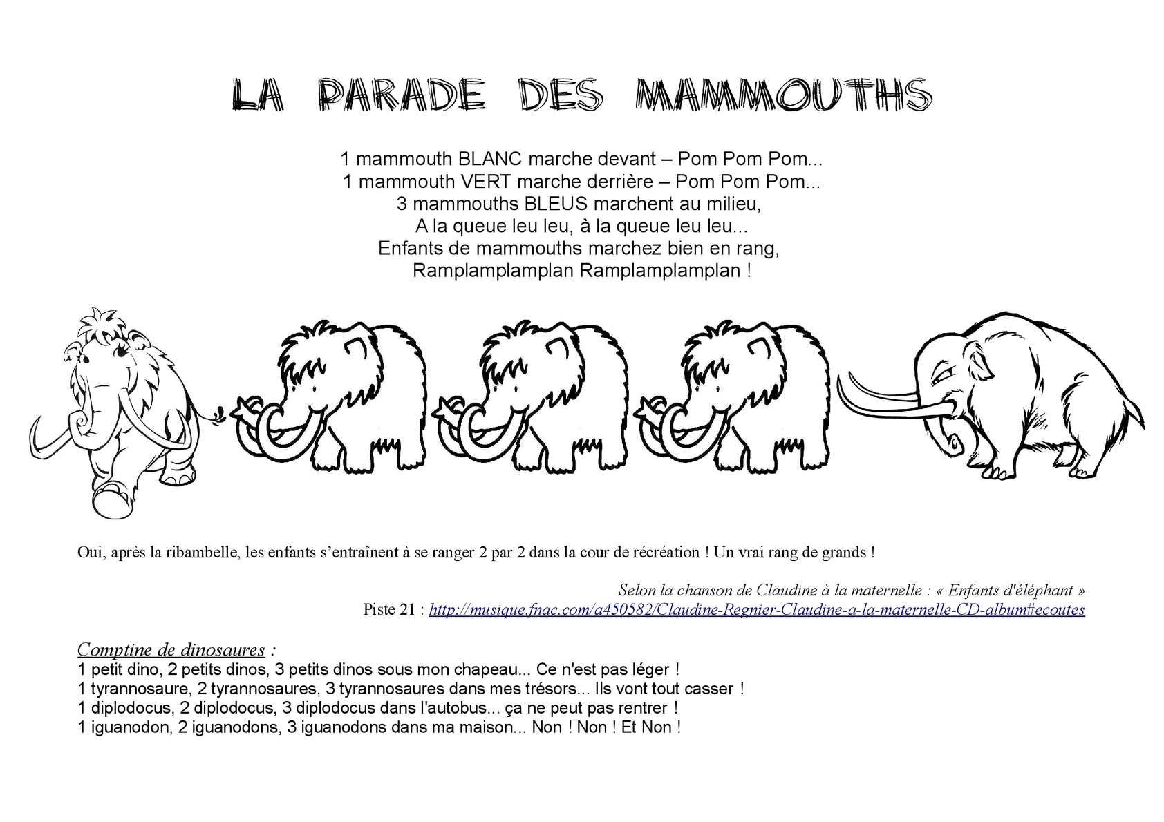 Calam o mammouths - Chanson un coup de soleil ...
