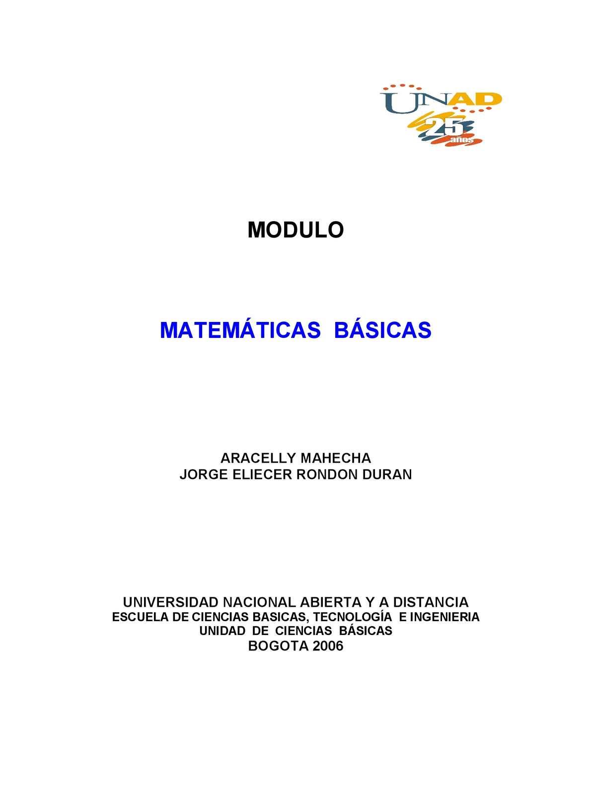 Modulo De Matematicas Básicas