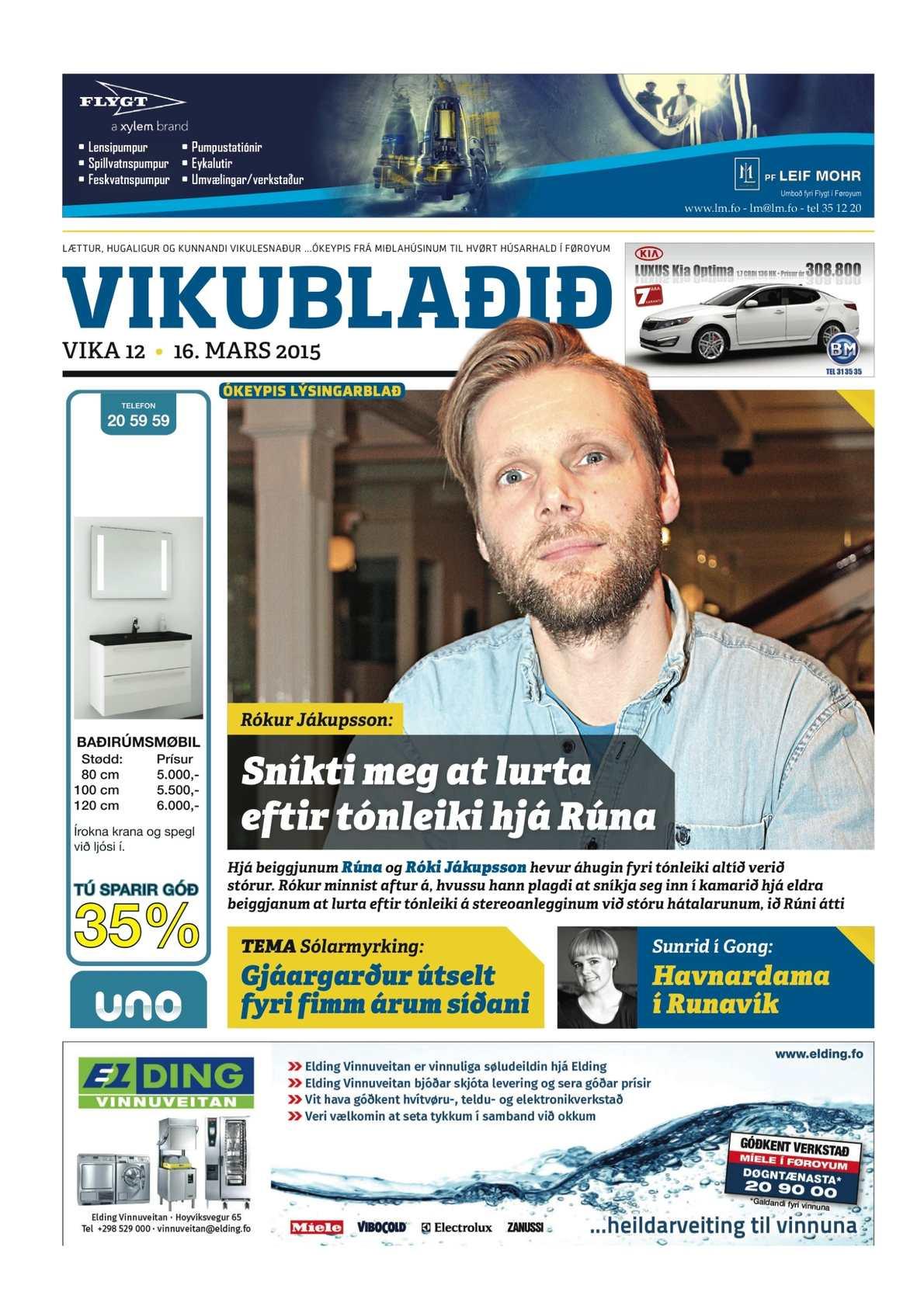 Vikublaðið 16. marts 2015