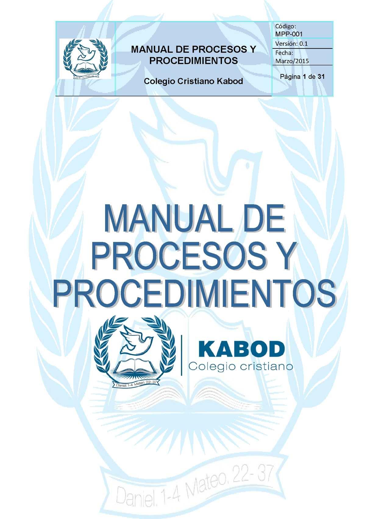 Calaméo - Manual De Proceso Y Procedimientos 2015