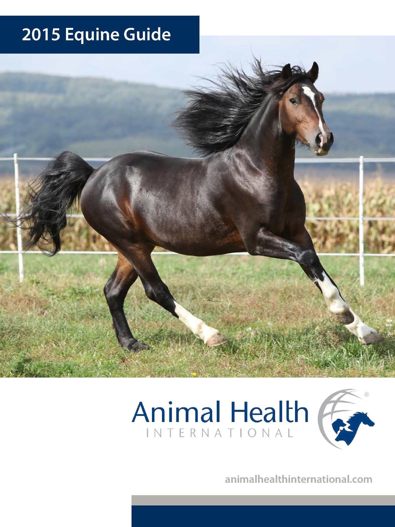 Animal Health Intern Equine Guide 2015
