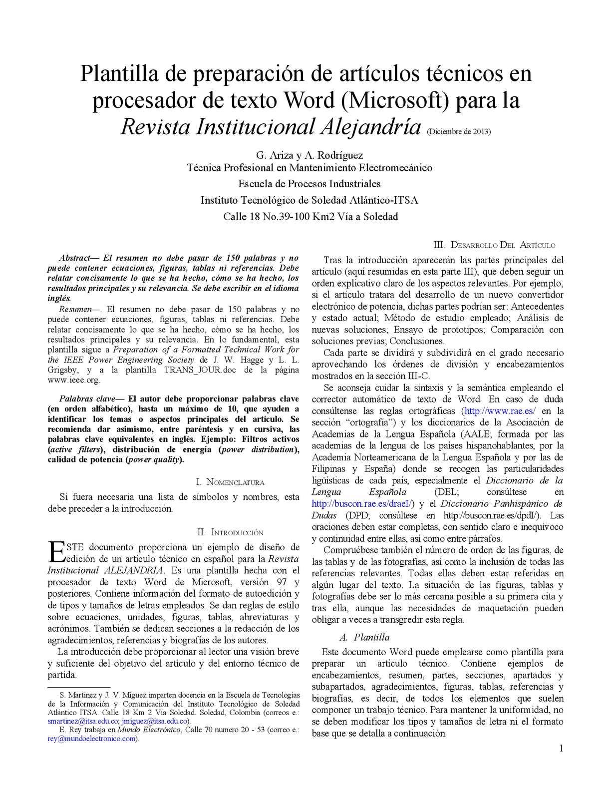 Atractivo Ieee Plantilla De Papel De Conferencia Modelo - Colección ...