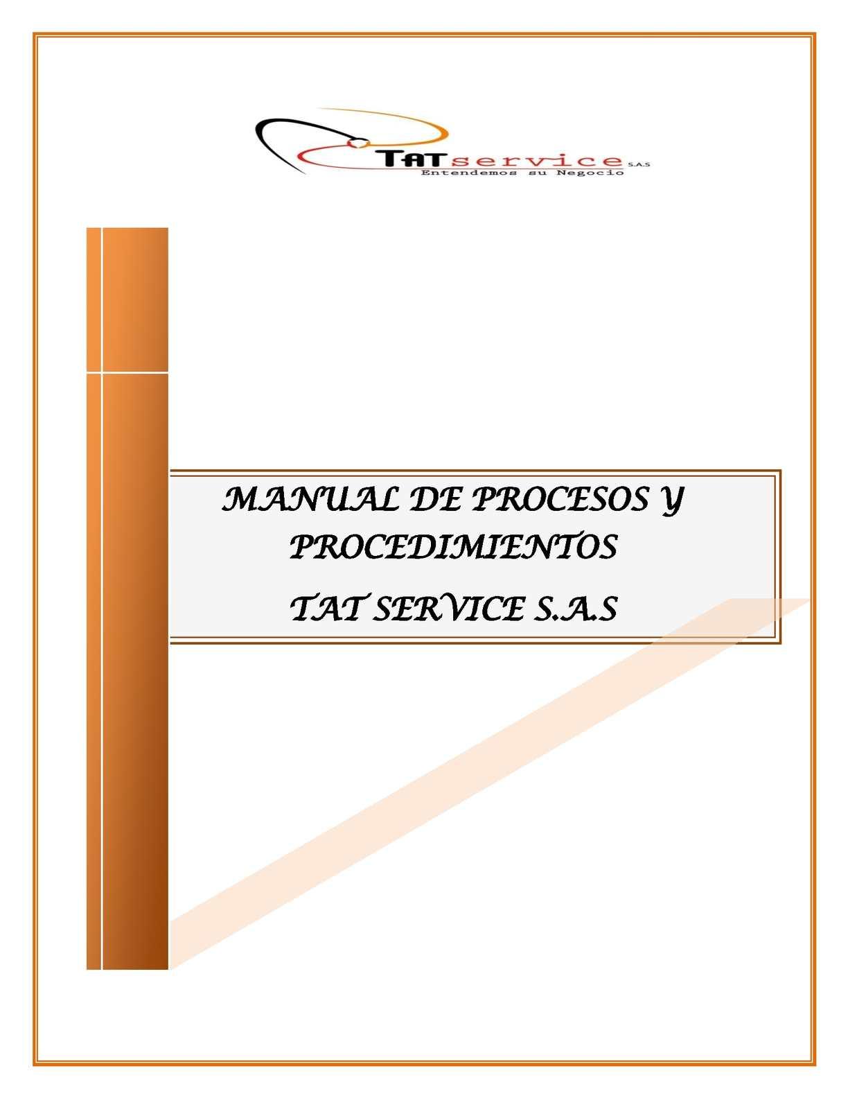Calaméo - Manual De Procesos Y Procedimientos