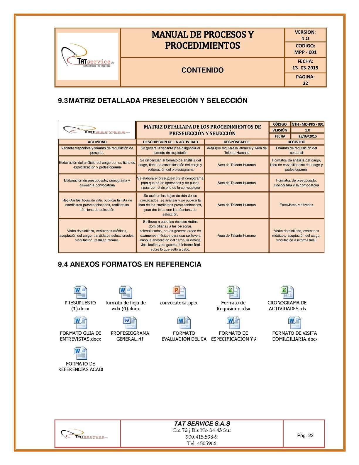 Manual de procesos y procedimientos calameo downloader page 22 ccuart Choice Image